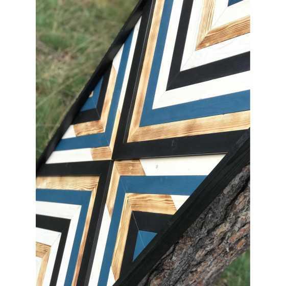 Wandpaneel Donkerblauw