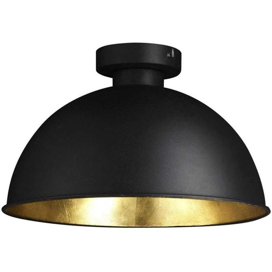 Plafonlamp zwart/goud