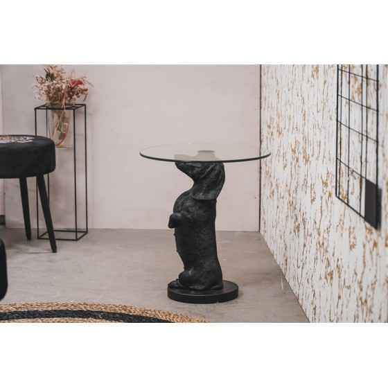 The Marble Disc on Stand - White - S