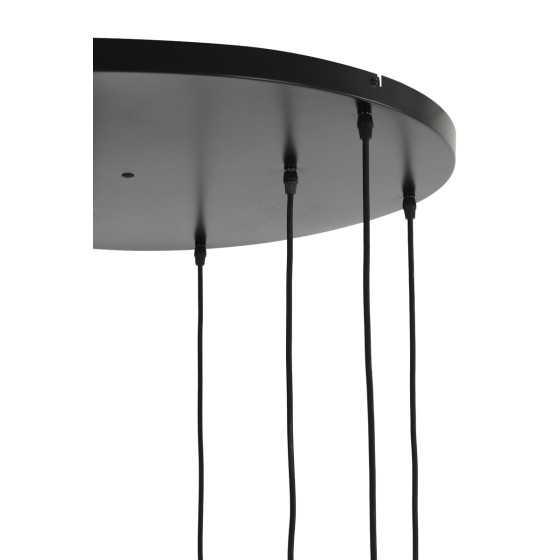 Hanglamp 9L Ø83,5x79,5 cm LEKAR antiek brons+smoke glas
