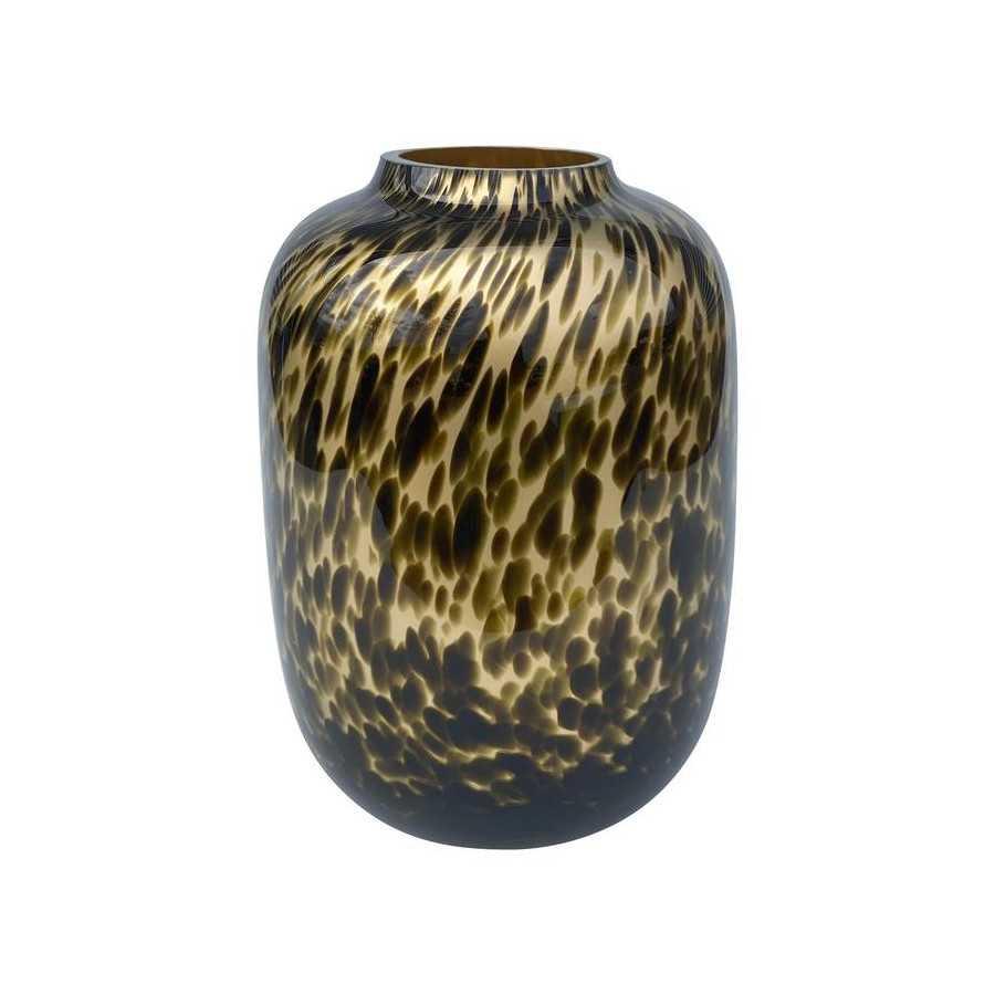 Artic small gold cheetah M Ø21 x H29 cm