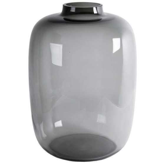 Glazen vaas Kara Grey Ø21 x H29 cm
