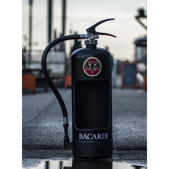 Brandblusser Bacardi zwart